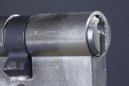 Ausgebauter Schließzylinder